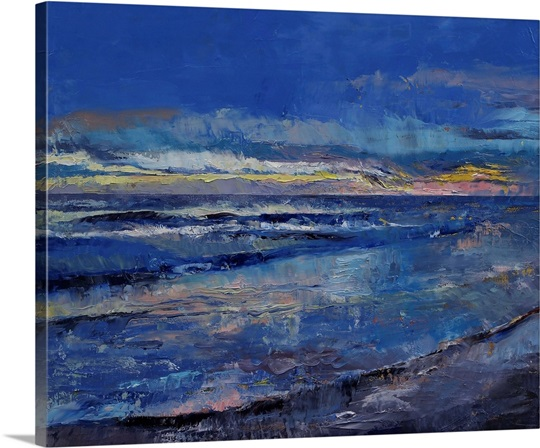 Midnight Blue Seascape Wall Art, Canvas Prints, Framed Prints, Wall ...