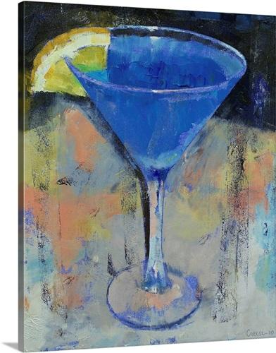 Royal Blue Martini Wall Art, Canvas Prints, Framed Prints, Wall ...