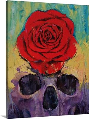 Skull - Red Rose