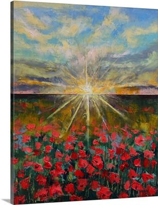 Starlight Poppies Landscape