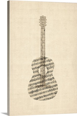 Acoustic Guitar Old Sheet Music