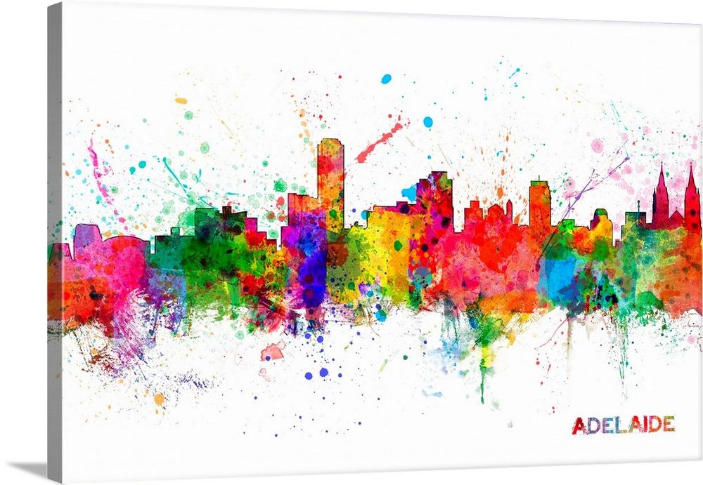 Adelaide Australia Skyline Wall Art Canvas Prints Framed Prints Wall Peels Great Big Canvas