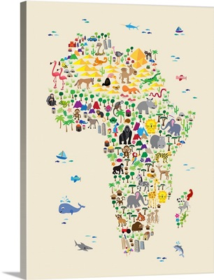 Animal Map of Africa for Kids