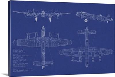Avro Lancaster Bomber Blueprint