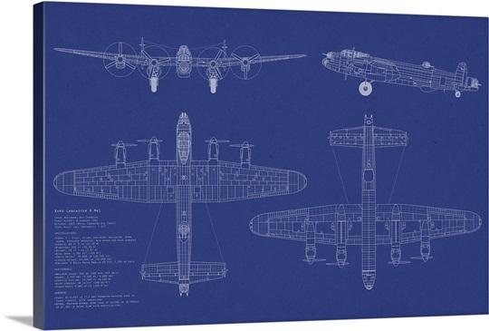 Blueprint Wall Art avro lancaster bomber blueprint wall art, canvas prints, framed