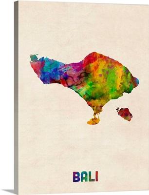 Bali Watercolor Map