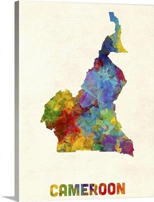 Cameroon Watercolor Map