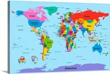 Children's Art map of the World