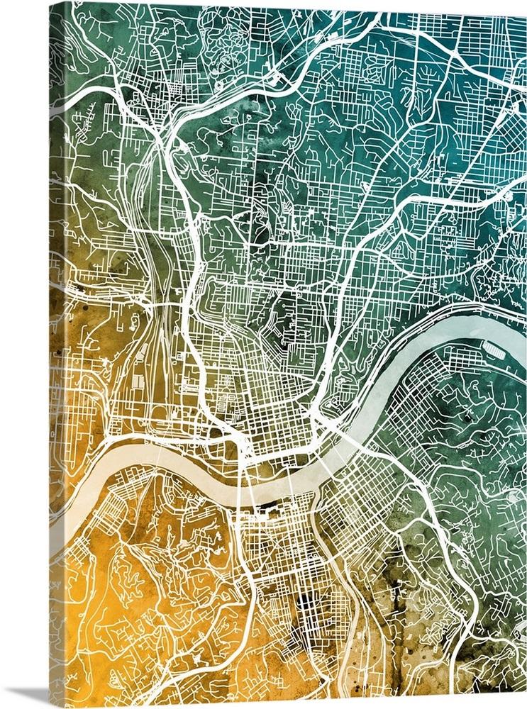 Cincinnati Map on