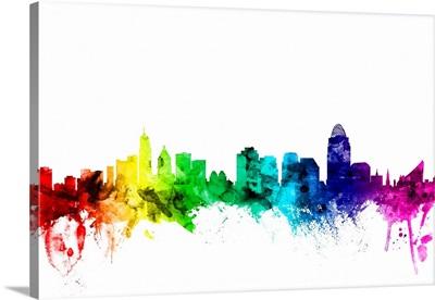 Cincinnati Ohio Skyline, Rainbow