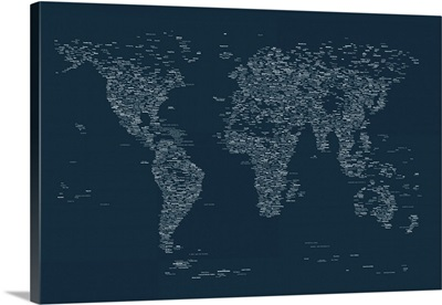 City Names World Map