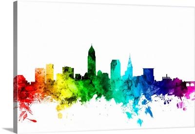 Cleveland Ohio Skyline, Rainbow