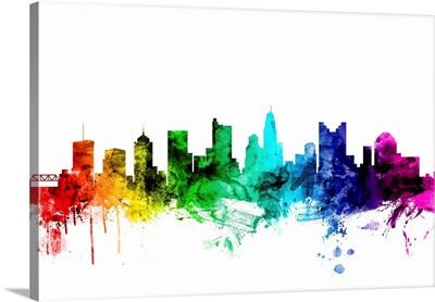 Columbus Ohio Skyline, Rainbow