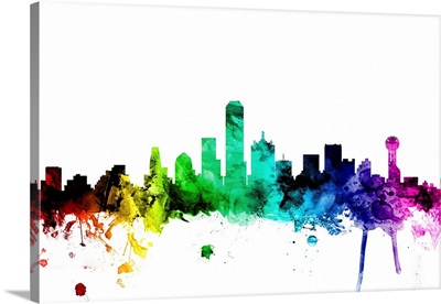 Dallas Texas Skyline, Rainbow