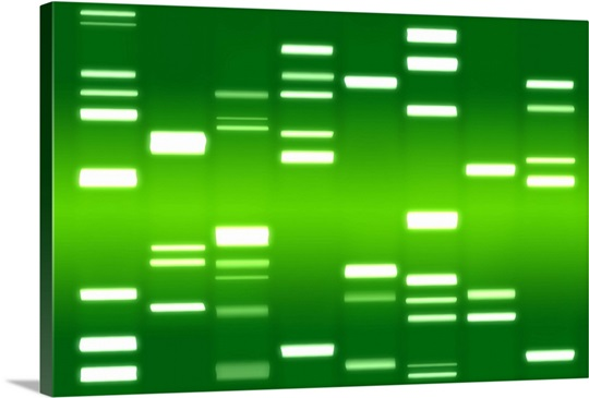 DNA Art Green Wall Art, Canvas Prints, Framed Prints, Wall Peels ...