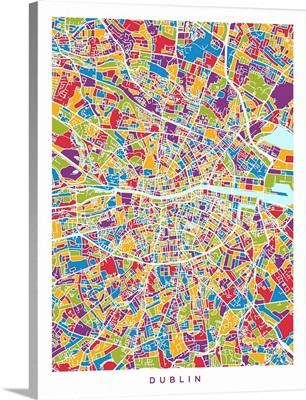 Dublin Ireland City Map