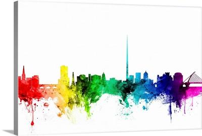 Dublin Ireland Skyline, Rainbow