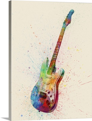 Electric Guitar Abstract Watercolor
