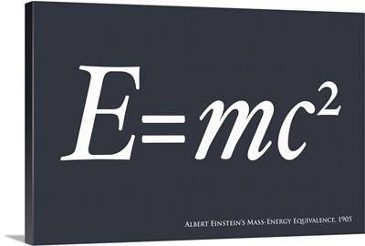 E=mc2 in blue