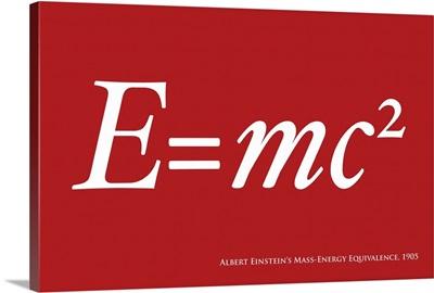 E=mc2 in red