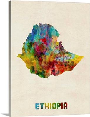 Ethiopia Watercolor Map