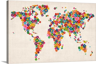 Flowers Map of the World