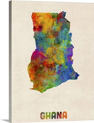 Ghana Watercolor Map