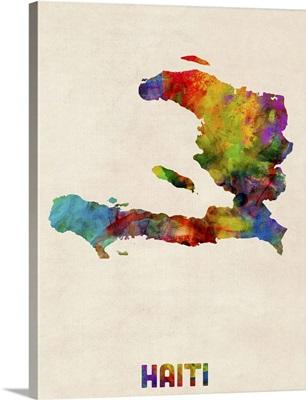 Haiti Watercolor Map
