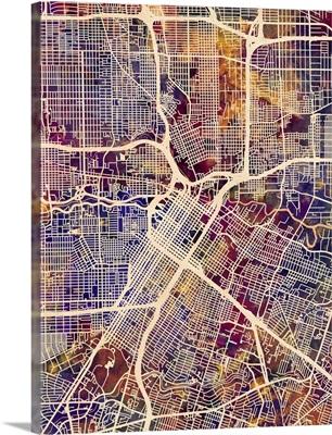 Houston Texas City Street Map