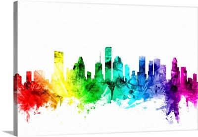 Houston Texas Skyline, Rainbow