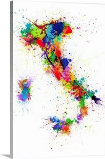 Italy Paint Splashes