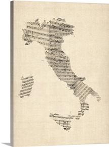 Italy Sheet Music Map