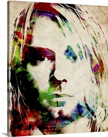 Kurt Cobain Urban Watercolor