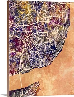 Lisbon Portugal City Map