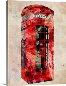 London Telephone Box Urban Art