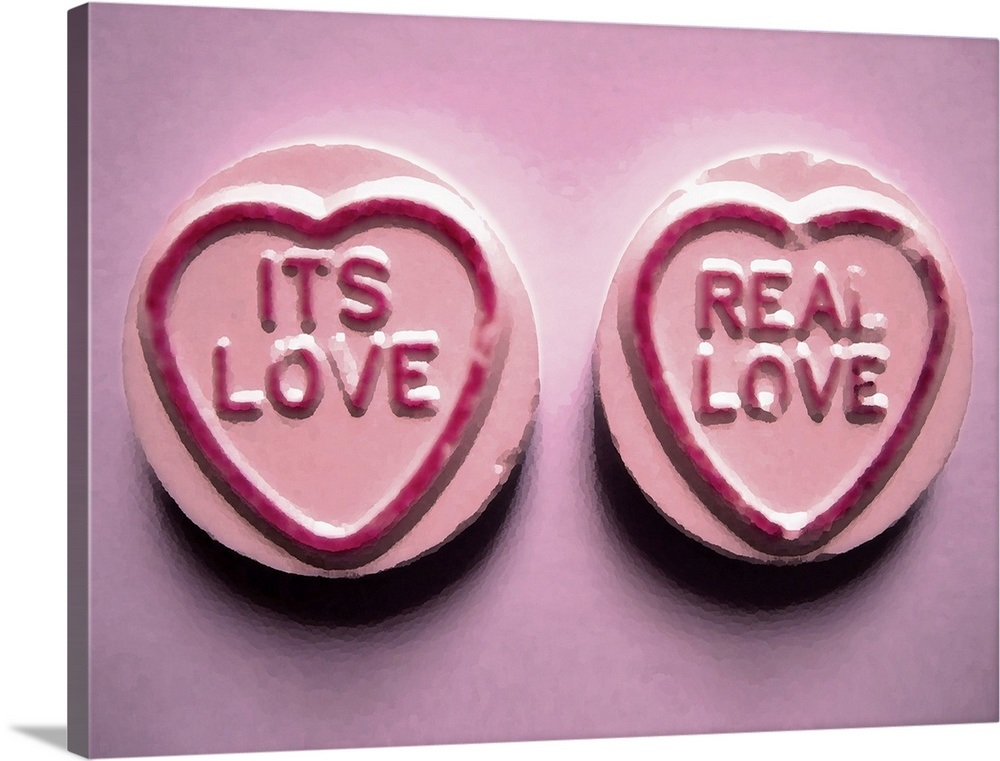 Love Hearts Sweets It S Real Wall Art