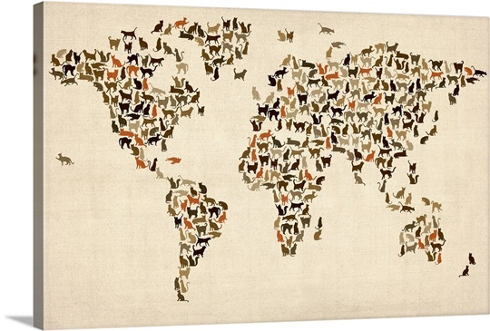 Map of the world - Cats