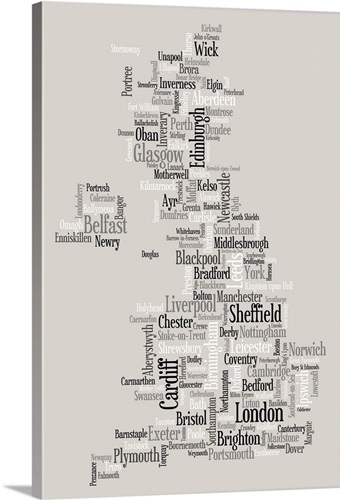 Map Of United Kingdom Made Up City Names