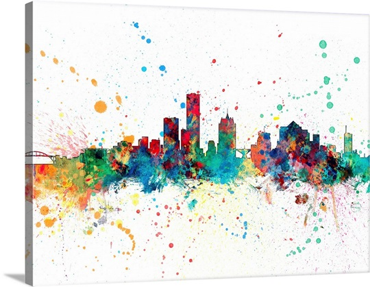 milwaukee wisconsin skyline wall art canvas prints framed prints