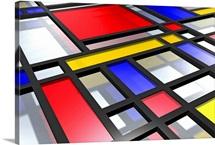 Mondrian Inspired 3D