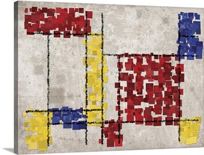 Mondrian Inspired Squares