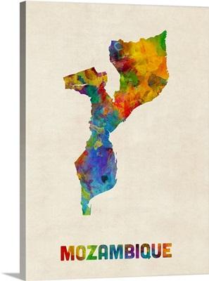 Mozambique Watercolor Map