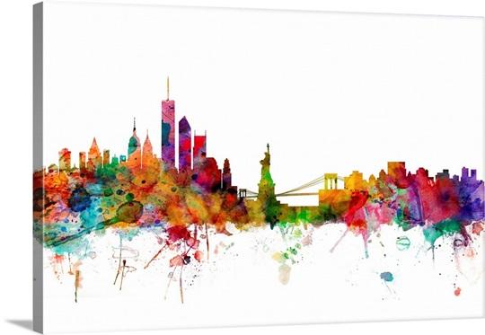 New York Skyline Wall Art, Canvas Prints, Framed Prints, Wall Peels ...