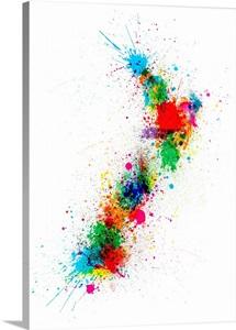 New Zealand Paint Splashes