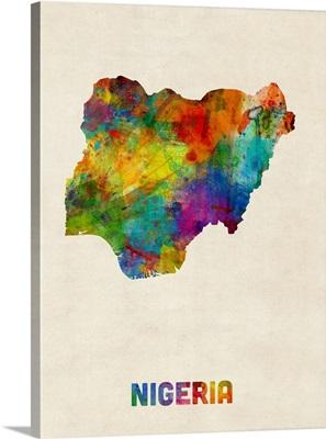 Nigeria Watercolor Map