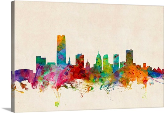 Oklahoma City Skyline Wall Art, Canvas Prints, Framed Prints, Wall ...
