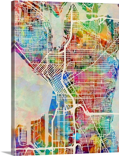 Seattle Washington Street Map Wall Art, Canvas Prints, Framed Prints on south park, seattle hwy map, early seattle map, link light rail, queen anne, seattle runway map, blue ridge, downtown seattle, seattle docks map, beacon hill, seattle concourse map, the highlands, seattle land value map, seattle walking map, west seattle map, art institute of seattle campus map, seattle modern map, central district seattle map, seattle vicinity map, capitol hill seattle map, downtown seattle map, pike place map, seattle tree map, seattle park map, seattle annexation map, seattle climate map, green lake, ballard seattle map,