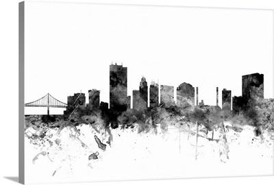 Toledo Ohio Skyline, Black and White