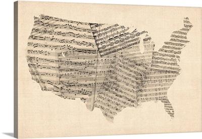 United States Sheet Music Map