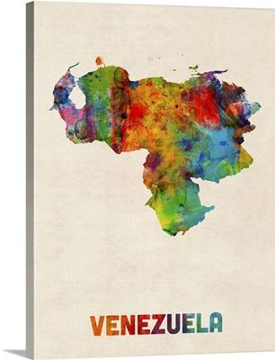 Venezuela Watercolor Map